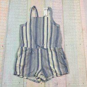 Gap Girls 4T or 5T Striped Shorts Jumpsuit Romper